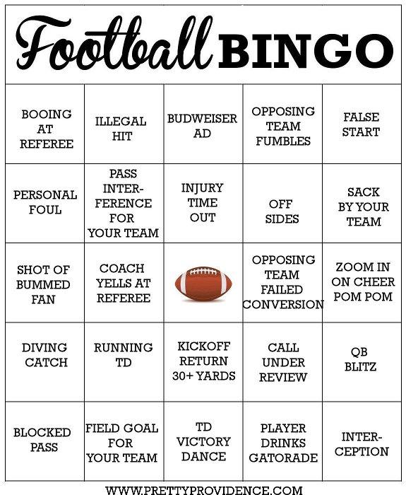 photograph about Printable Super Bowl Bingo Cards titled Social gathering Designs For Tremendous Bowl LI