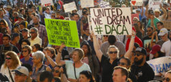 Supporters of DACA during a rally
